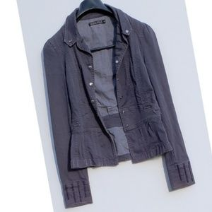 Sanctuary for Anthropologie Navy Military Jacket M